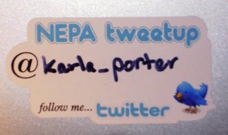 Tweetup Nametag SignWerks