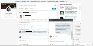 LinkedIn Turns On Pop Up Messaging | Karla Porter